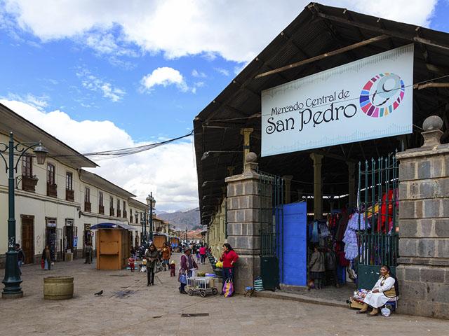 Mercado Central de San Pedro, Cusco. Fonte: Boleto Machu Picchu